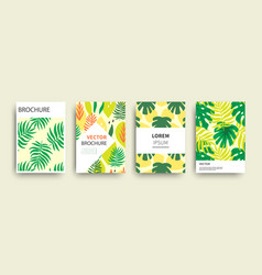 tropic nature exotic covers templates set vector image