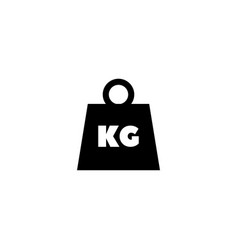 weight kilogram flat icon vector image