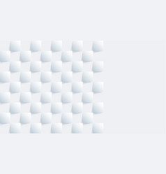 white geometric square background in paper art vector image