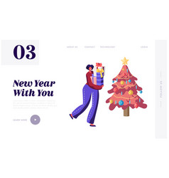 winter holidays celebration website landing page vector image