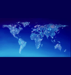 world map in sky vector image