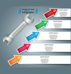 Wrench screw repair icon business infographic vector