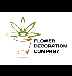 Florist decoration vector image vector image
