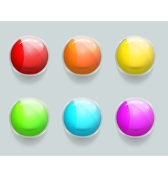 Glass banner or frames glossy web buttons vector image vector image