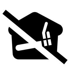 No smoking at home sign vector image