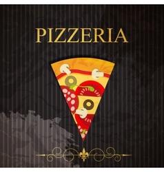 PIzzeria menu vector image vector image