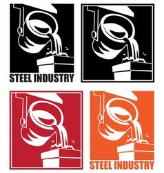 steel industry vector image vector image