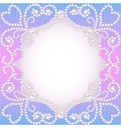 wedding background with frame ornament vector image vector image