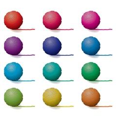 yarn balls vector image