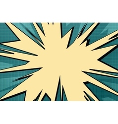 Explosive pop art background comics bubble vector