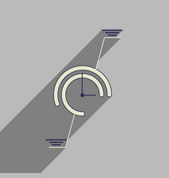 flat web icon with long shadow economic chart vector image