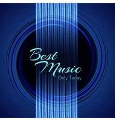 Music Background with Glowing Strings of Guitar vector image