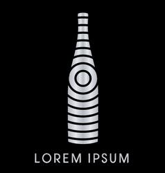 Silver Bottle vector image