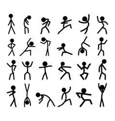 with hand draw doodle peoples set vector image