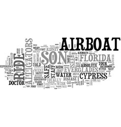Airboat safety text word cloud concept vector