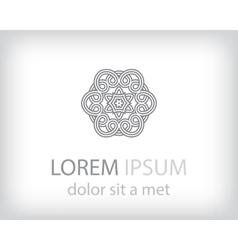 Corporate logo design template vector image vector image