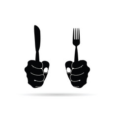 cutlery in hand drawing in black on white vector image vector image