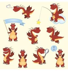 Dragon set2 vector image