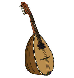 historical italy mandolin vector image vector image