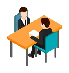 Job interview icon isometric 3d style vector image