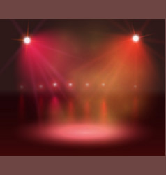 spotlight on stage and lights vector image