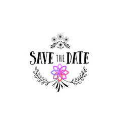 badge as part of the design - save the date vector image