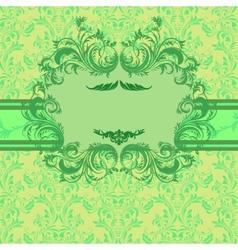 Bright vintage invitation card vector image vector image