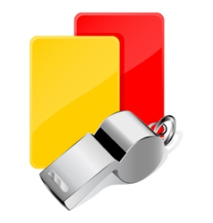 cards and whistle vector image vector image