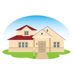 fine family house vector image