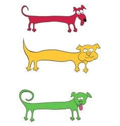 long dog for inscriptions on the body vector image