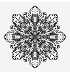 mandala stylized floral circular monochrome vector image vector image