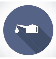 Oiler single flat icon vector image vector image