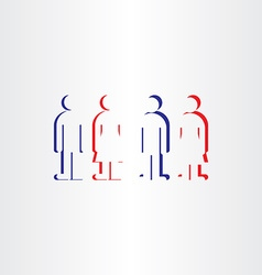 people icons man woman symbols toilet sign vector image vector image