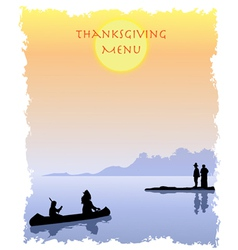 Thanksgiving Menu vector image