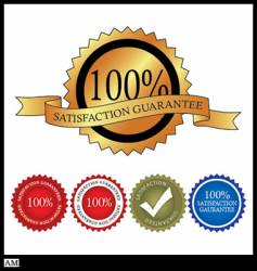 100 percent satisfaction gaurantee vector image