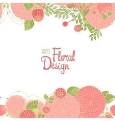 Abstract floral border vector image