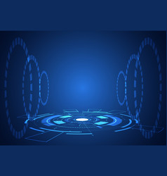 abstract technology futuristic concept interface vector image