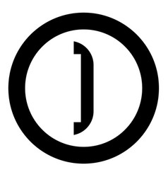 accessories for door icon black color in circle vector image