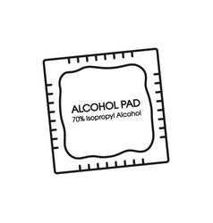 Alcohol wipes icon antibacterial formula vector
