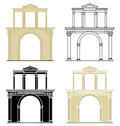 Arch hadrian athens greece vector