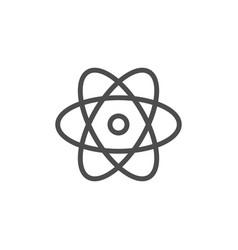 atom line icon vector image