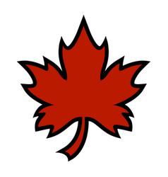 autumn maple leaf logo vector image