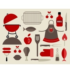 barbecue icons vector image