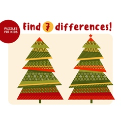 Big Christmas tree in traditional color style Kid vector