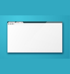blank browser window vector image