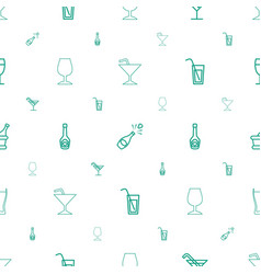 Champagne icons pattern seamless white background vector