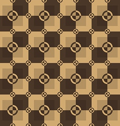 Circle-squares pattern in brown and chocolate vector