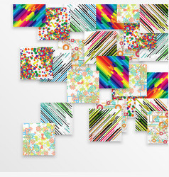 colorful template background vector image