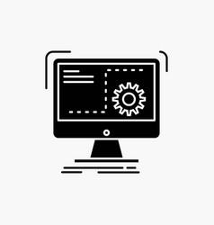 Command computer function process progress glyph vector