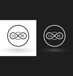 creative core icon using the sign of infinity vector image